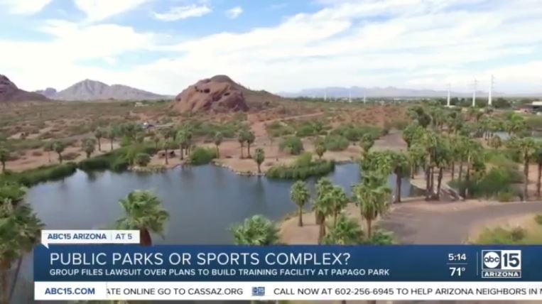 Phoenix, Scottsdale sued over plans to use public land for SF Giants training facility